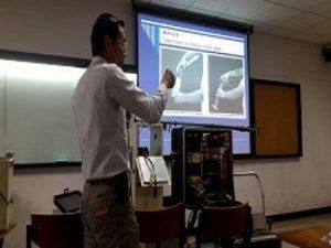 การบรรยายการเก็บอากาศจากปล่อง ในรายวิชาการจัดการและควบคุมมลพิษทางอากาศ